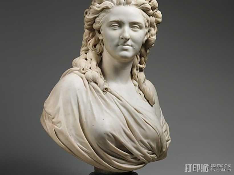 威里夫人雕塑 3D模型  图1