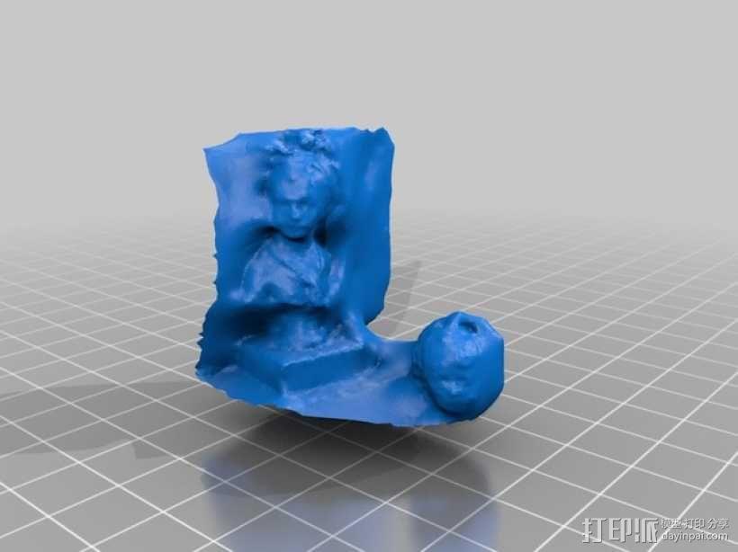 路易斯 布龙尼亚 半身像 3D模型  图4