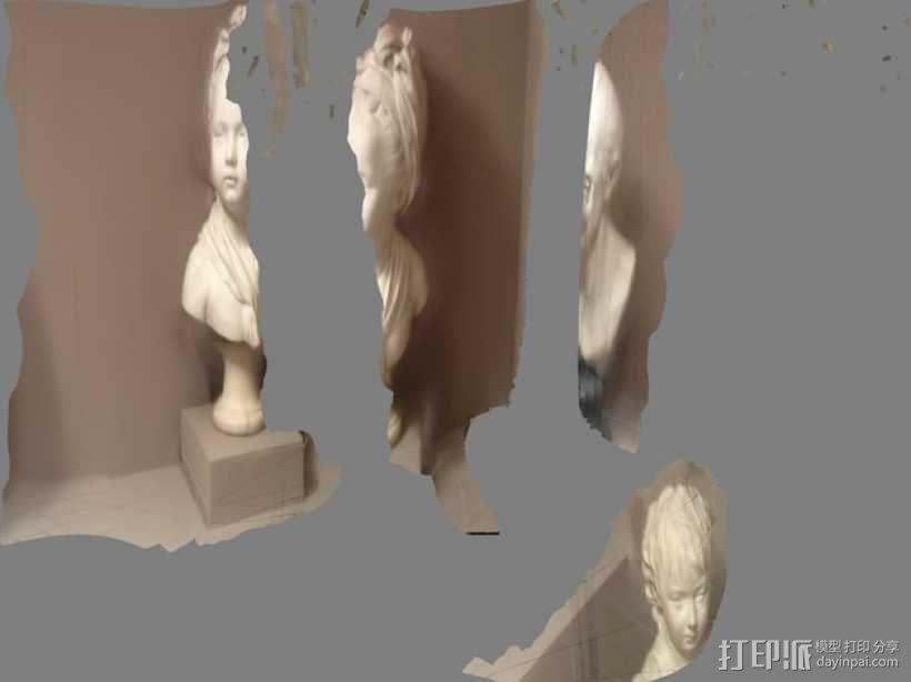 路易斯 布龙尼亚 半身像 3D模型  图5
