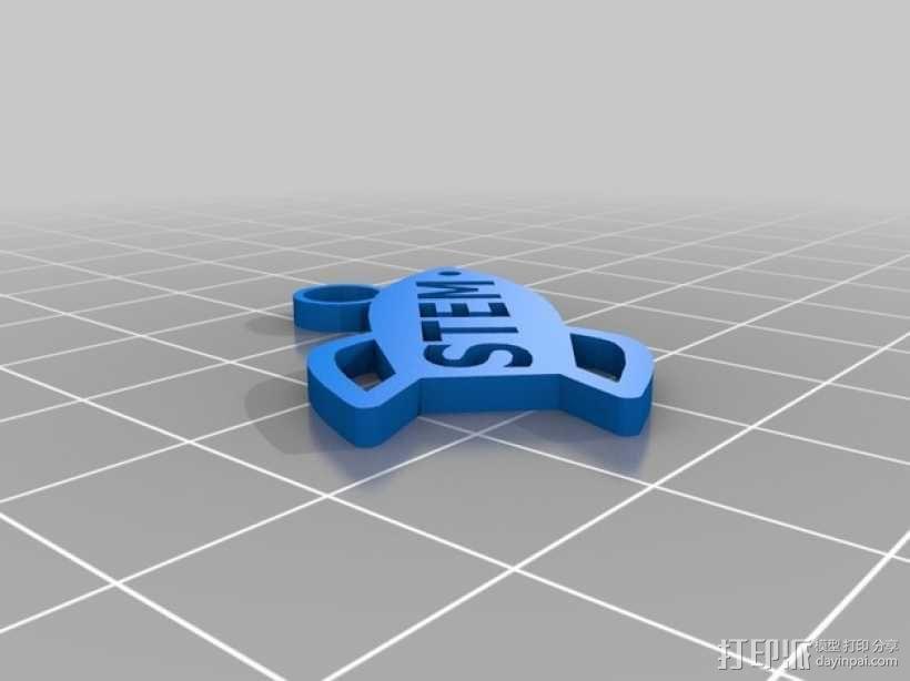 STEM优秀徽章 3D模型  图6