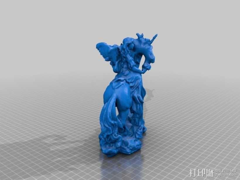 独角兽与天使 3D模型  图2