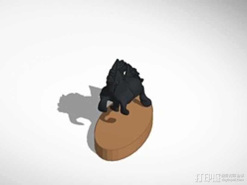 马 雕塑 3D模型  图1
