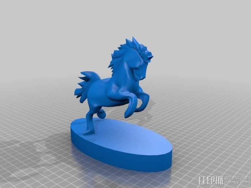 马 雕塑 3D模型  图2