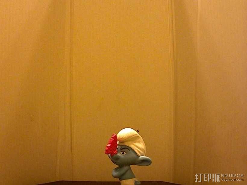 蓝精灵 grouchy 3D模型  图2