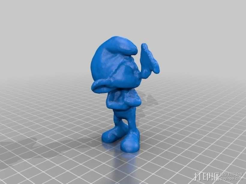 蓝精灵 grouchy 3D模型  图1