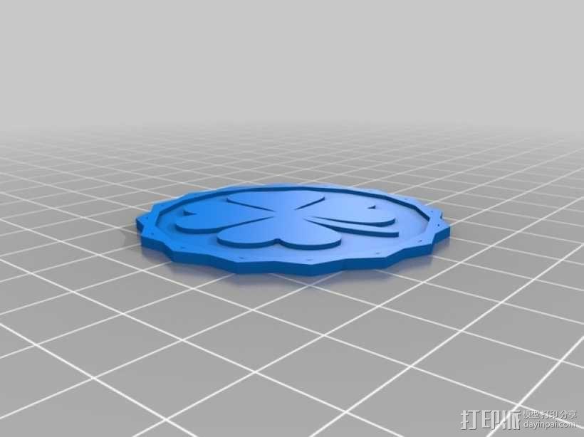 四叶草硬币 3D模型  图3