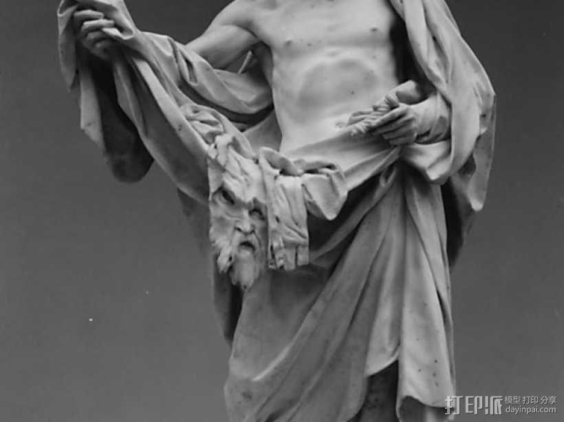 圣巴托洛缪大屠杀 塑像 3D模型  图1