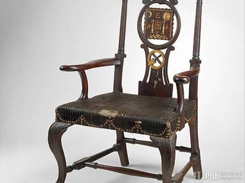 扶手椅 3D模型  图1