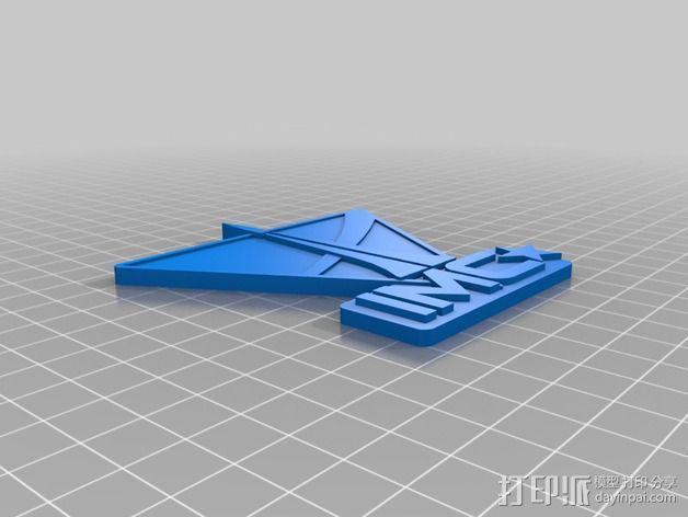 泰坦陨落 IMC Logo 3D模型  图1
