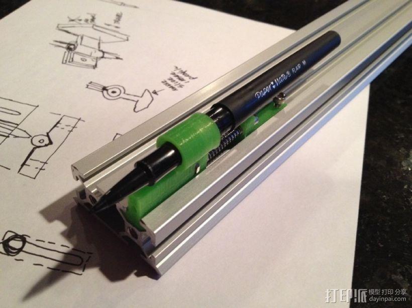 弹簧 笔筒 3D模型  图1