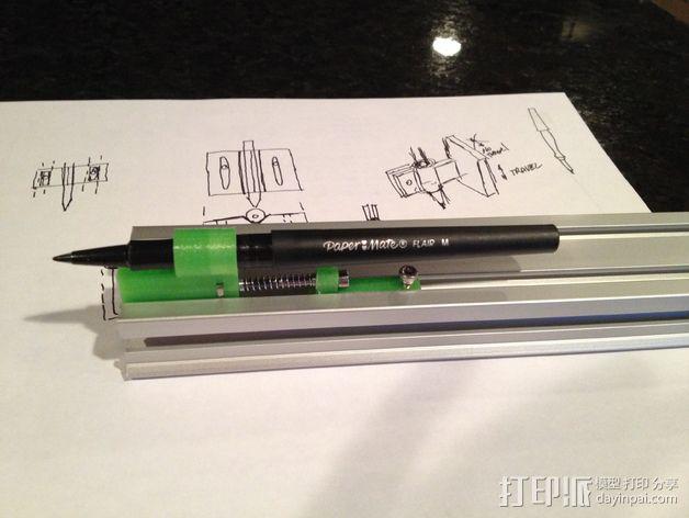 弹簧 笔筒 3D模型  图5