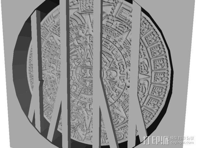 玛雅日历 模具 3D模型  图3