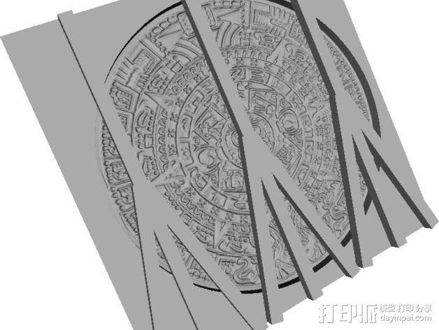 玛雅日历 模具 3D模型  图7