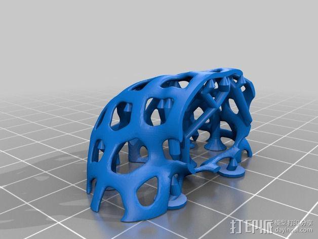 镂空人偶 测试版 3D模型  图5