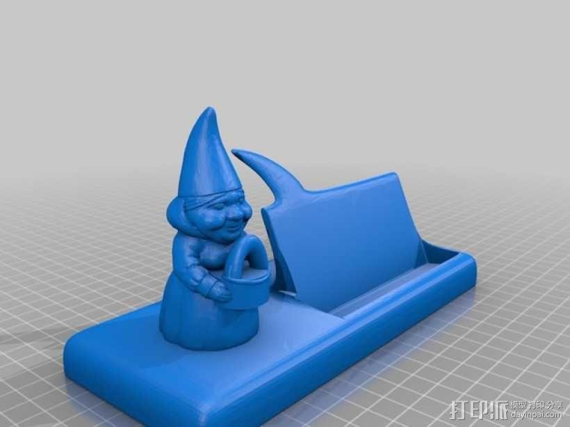 精灵 名片架 3D模型  图2
