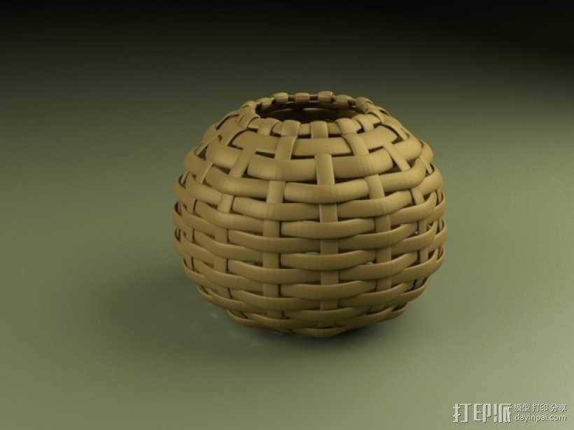 编织的碗 3D模型  图1