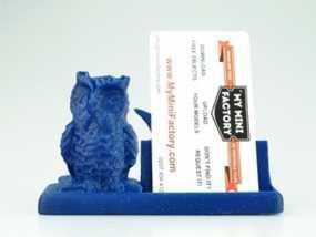 猫头鹰名片盒 3D模型