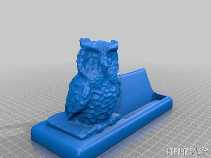 猫头鹰名片盒 3D模型  图2