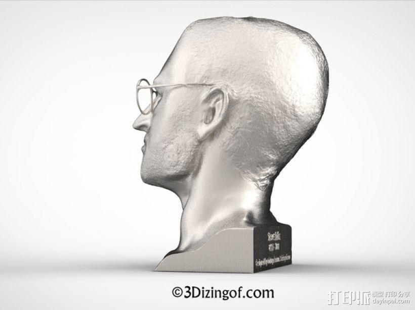 乔布斯 头像 3D模型  图1