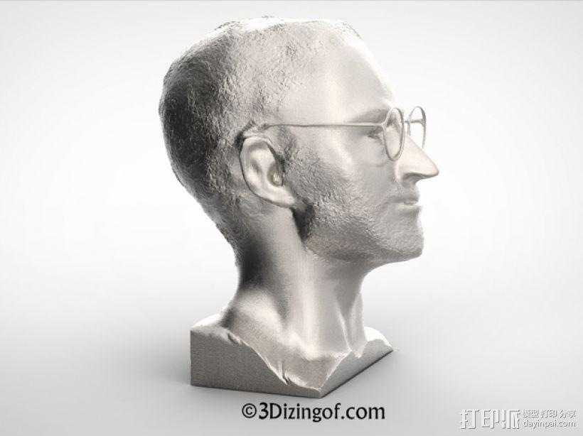 乔布斯 头像 3D模型  图4