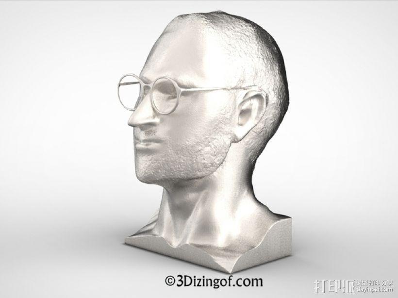 乔布斯 头像 3D模型  图3