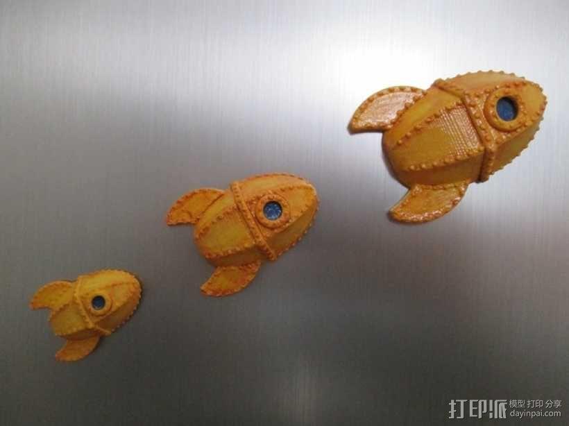 火箭 冰箱贴 3D模型  图1