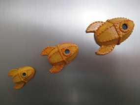 火箭 冰箱贴 3D模型