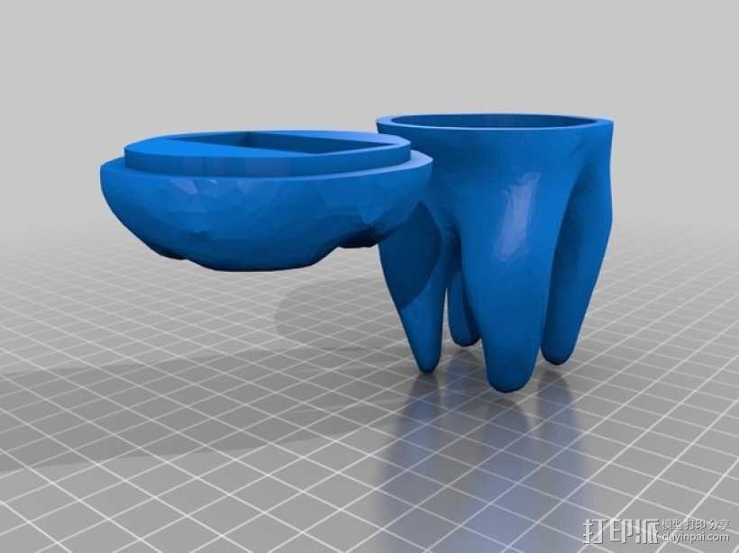 牙齿 容器 3D模型  图1