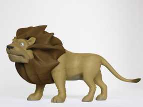 雄伟的狮子 3D模型