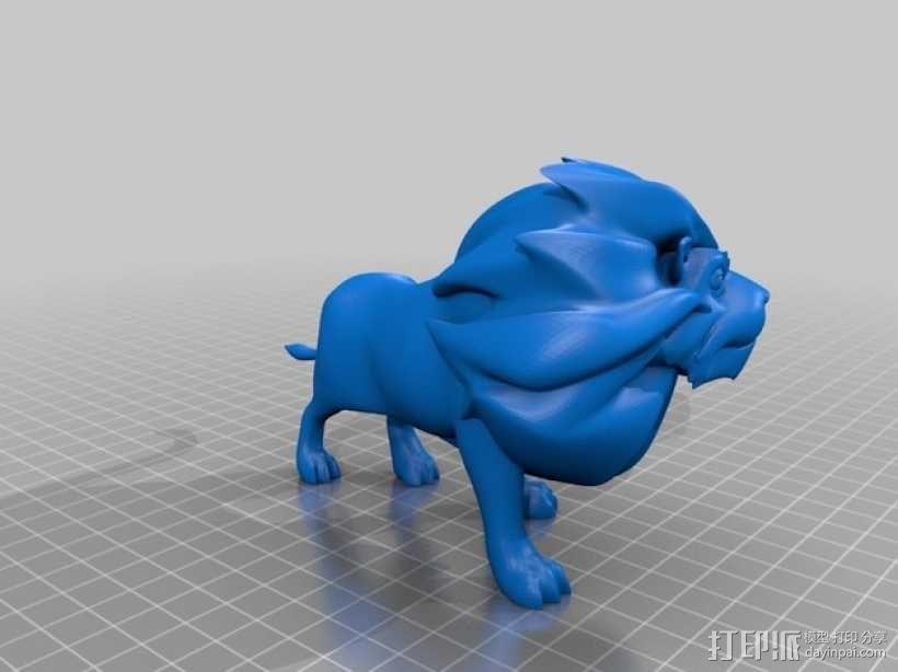 雄伟的狮子 3D模型  图5