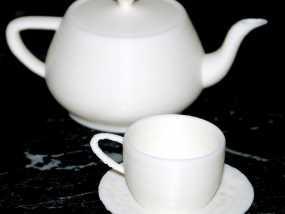 犹他茶杯 杯垫 3D模型