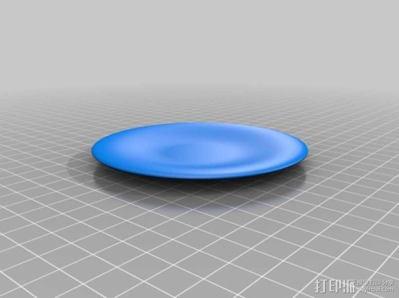 犹他茶杯 杯垫 3D模型  图2