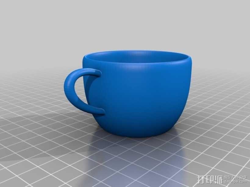 犹他茶杯 杯垫 3D模型  图3