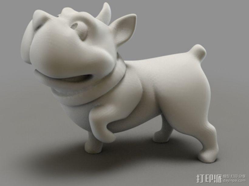 斗牛犬 3D模型  图1