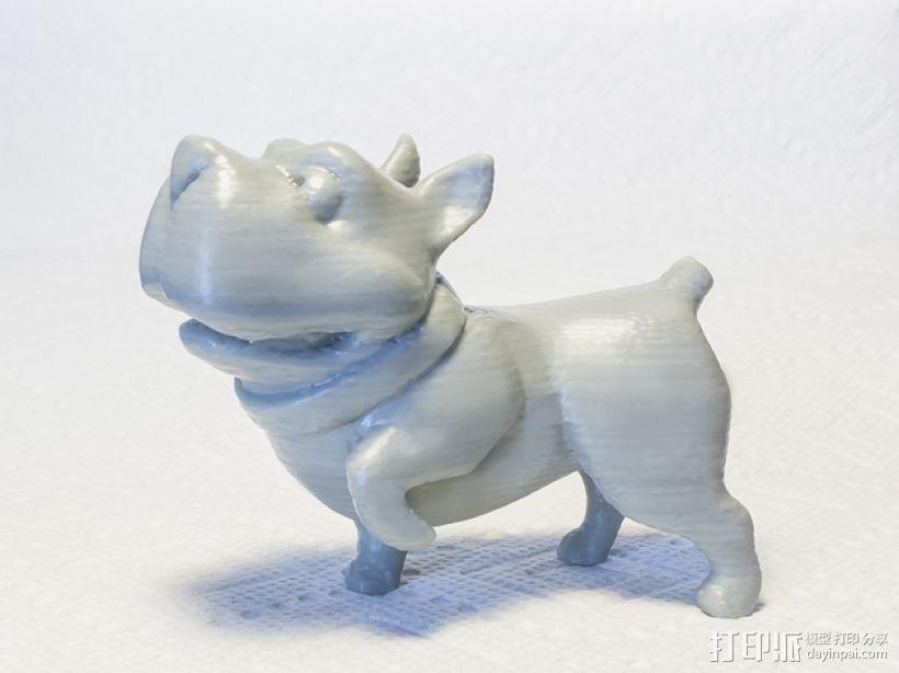 斗牛犬 3D模型  图2