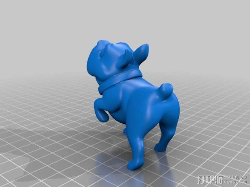 斗牛犬 3D模型  图3