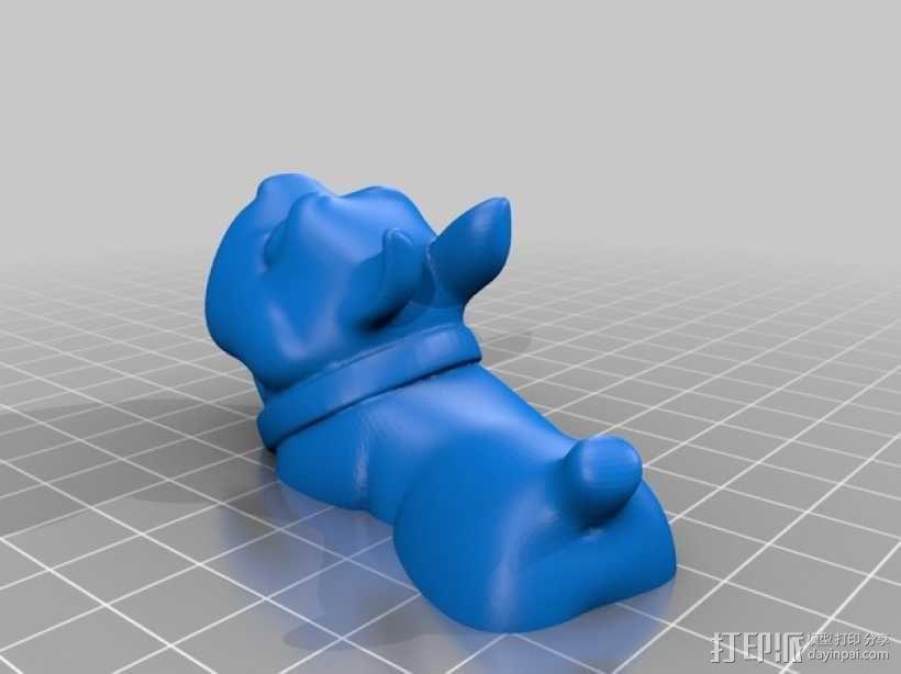斗牛犬 3D模型  图4