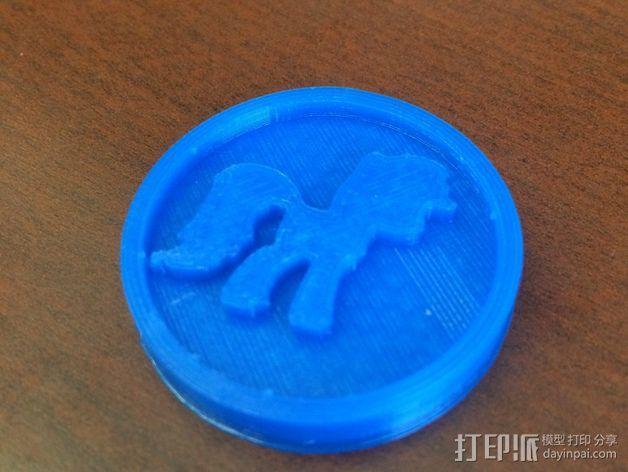 小马驹 徽章 3D模型  图1