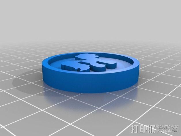 小马驹 徽章 3D模型  图2