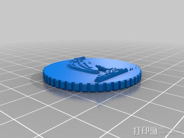 鸟类 徽章 3D模型  图3