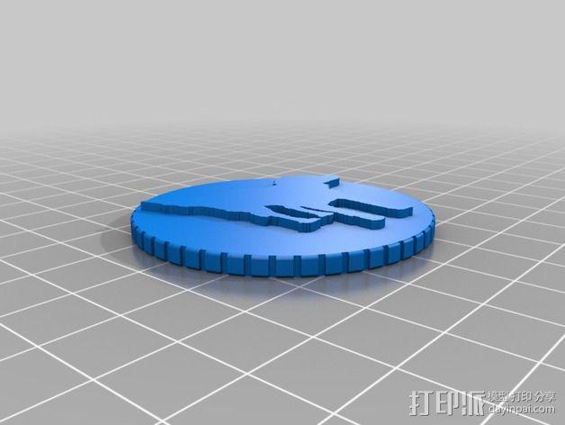 鸟类 徽章 3D模型  图2