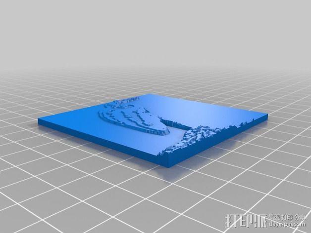 鸟类 徽章 3D模型  图5