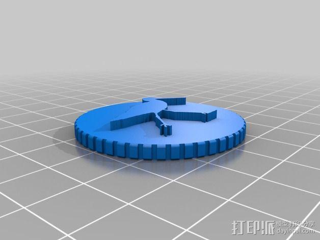 鸟类 徽章 3D模型  图4