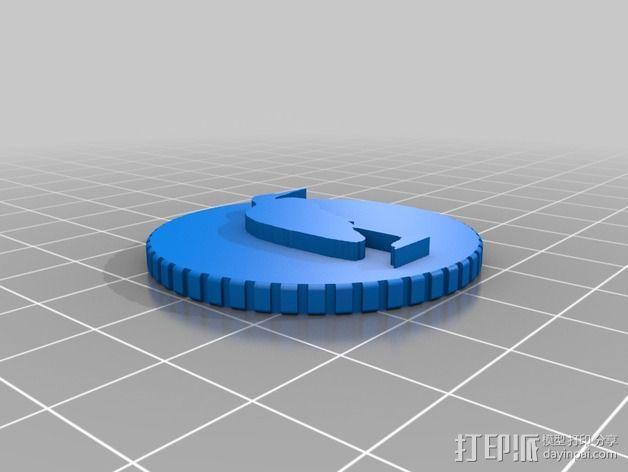 鸟类 徽章 3D模型  图6