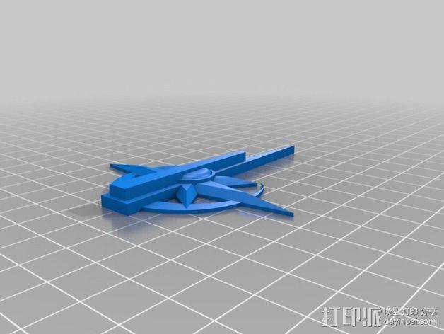 游戏《荒野星球》自治者 标志 3D模型  图2