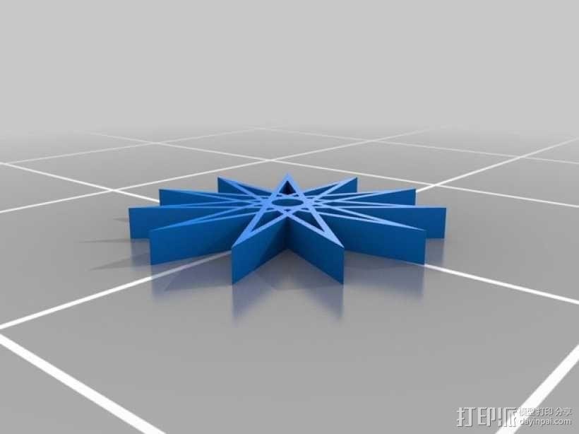11边星星 3D模型  图1