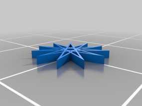 11边星星 3D模型