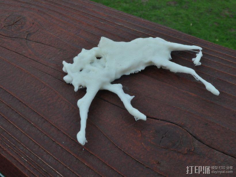 路毙的小鹿  3D模型  图4