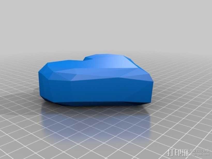 心形装饰品 3D模型  图1