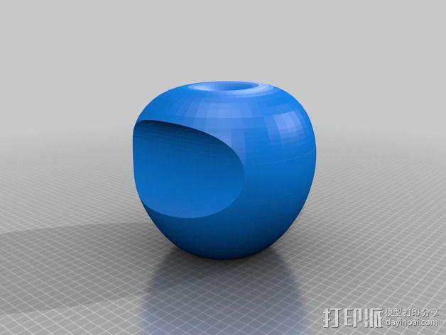 美国动画《辛普森一家》中苹果手机Mapple标志 3D模型  图3